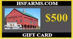 $500 hsfarms.com Barn Gift Card