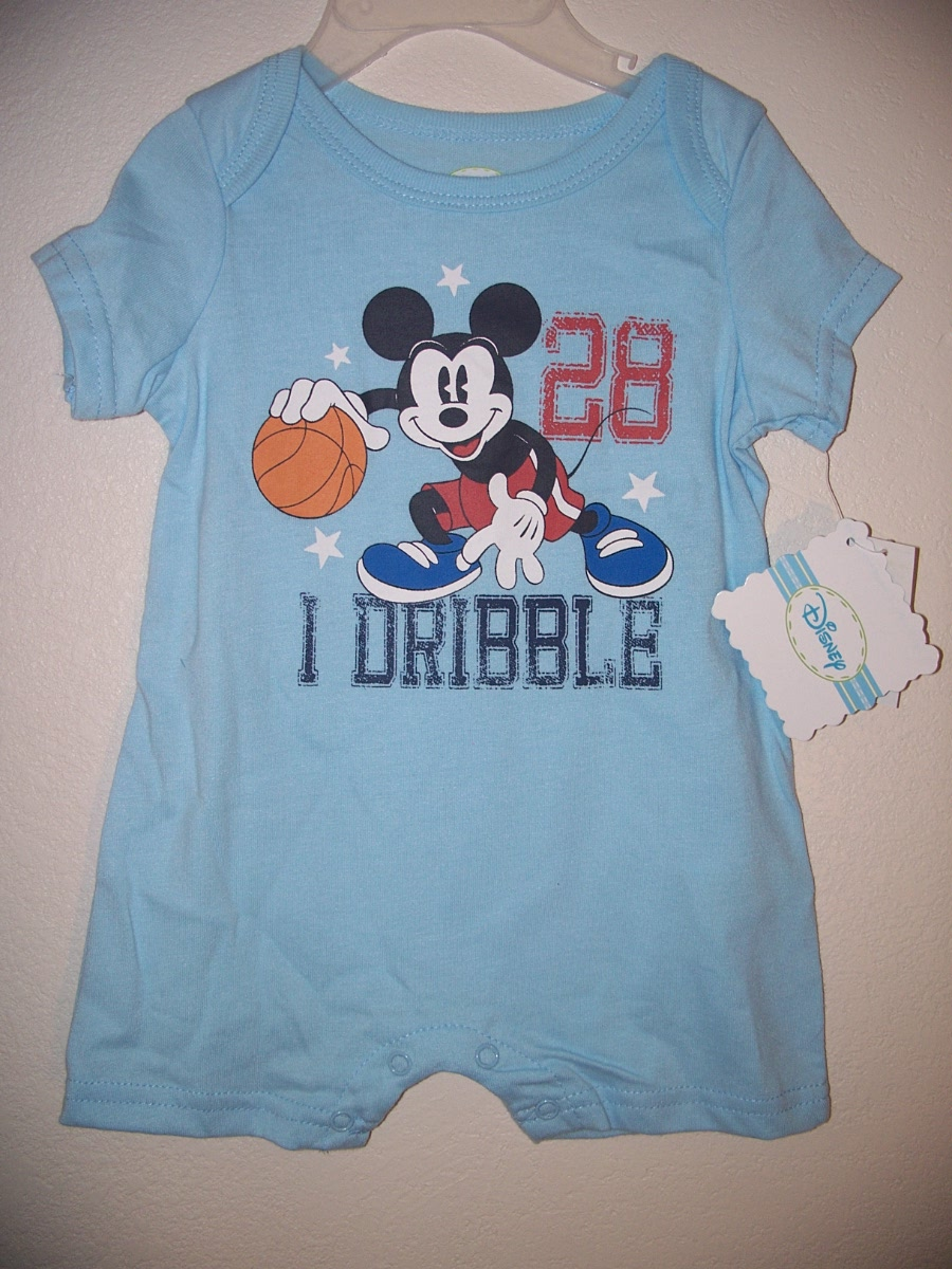 Mickey Mouse 0-3 Months Onsie(blue)