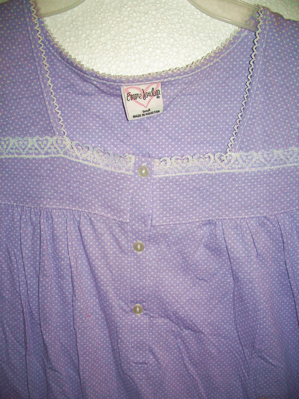 Sz S 6 Sleepwear Purple With White Dots One Piece