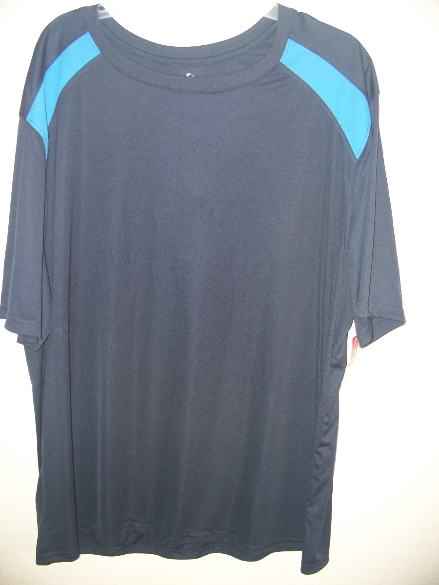 Open Trails Sz-L Shirt Dark Blue with Blue on Shoulders