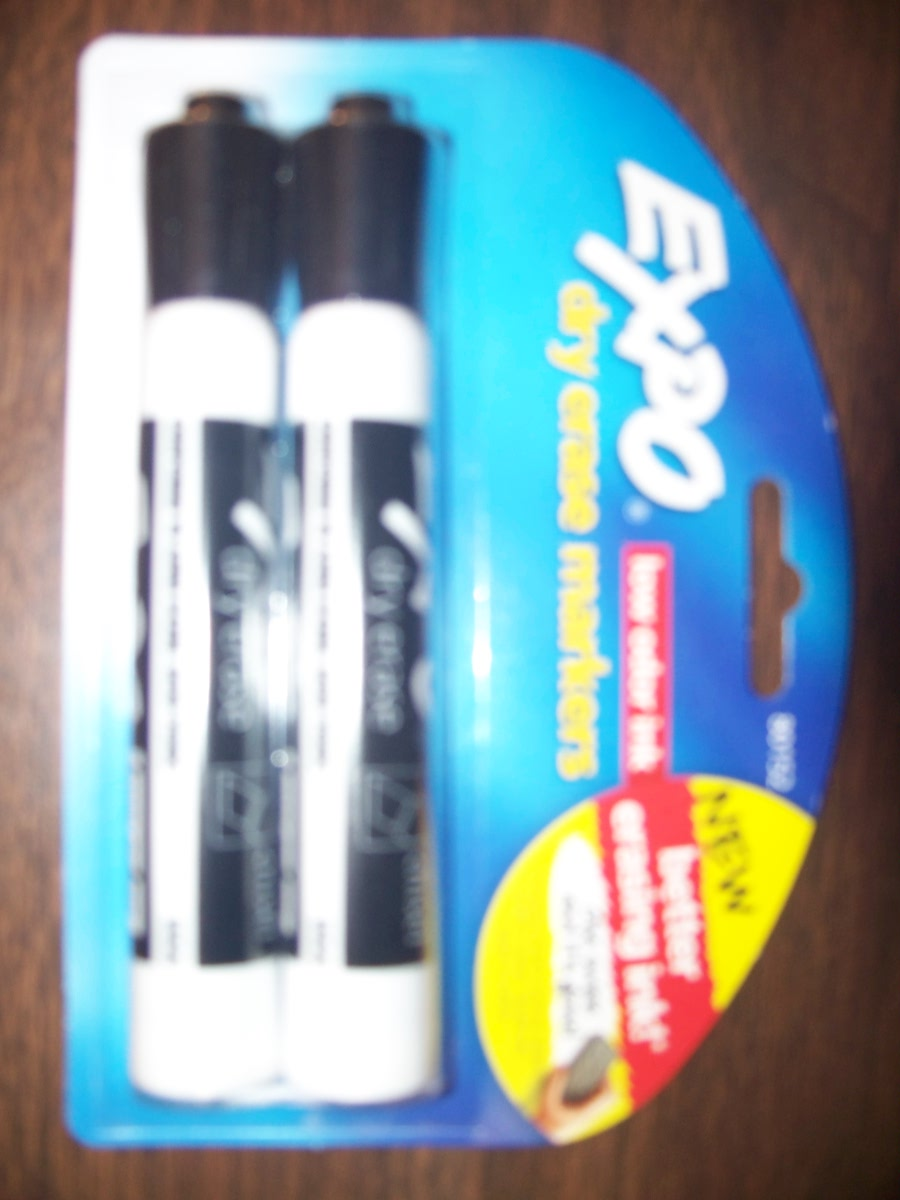 2 Pk Dry Erase Markers(black)