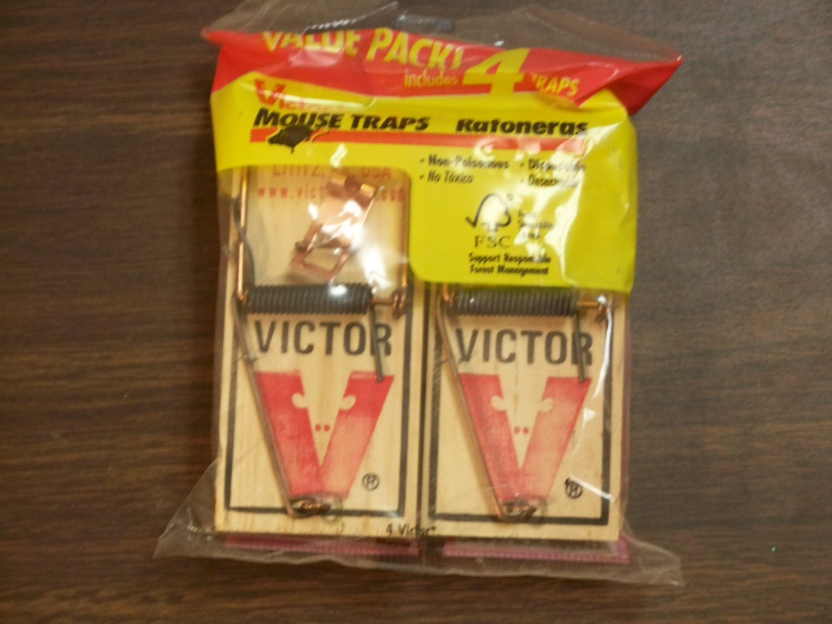 Victor Mouse Traps 4 pk