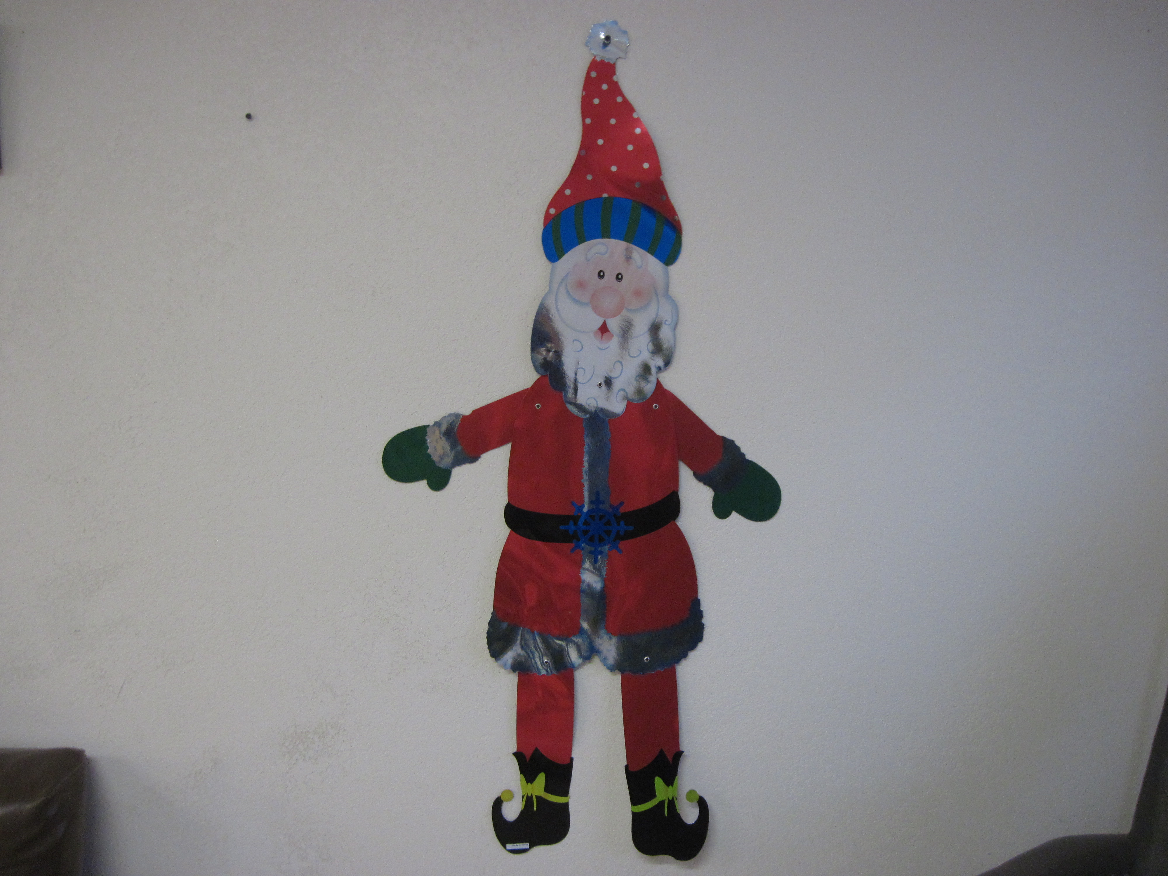 4' Metallic Jointed Decoration - Santa