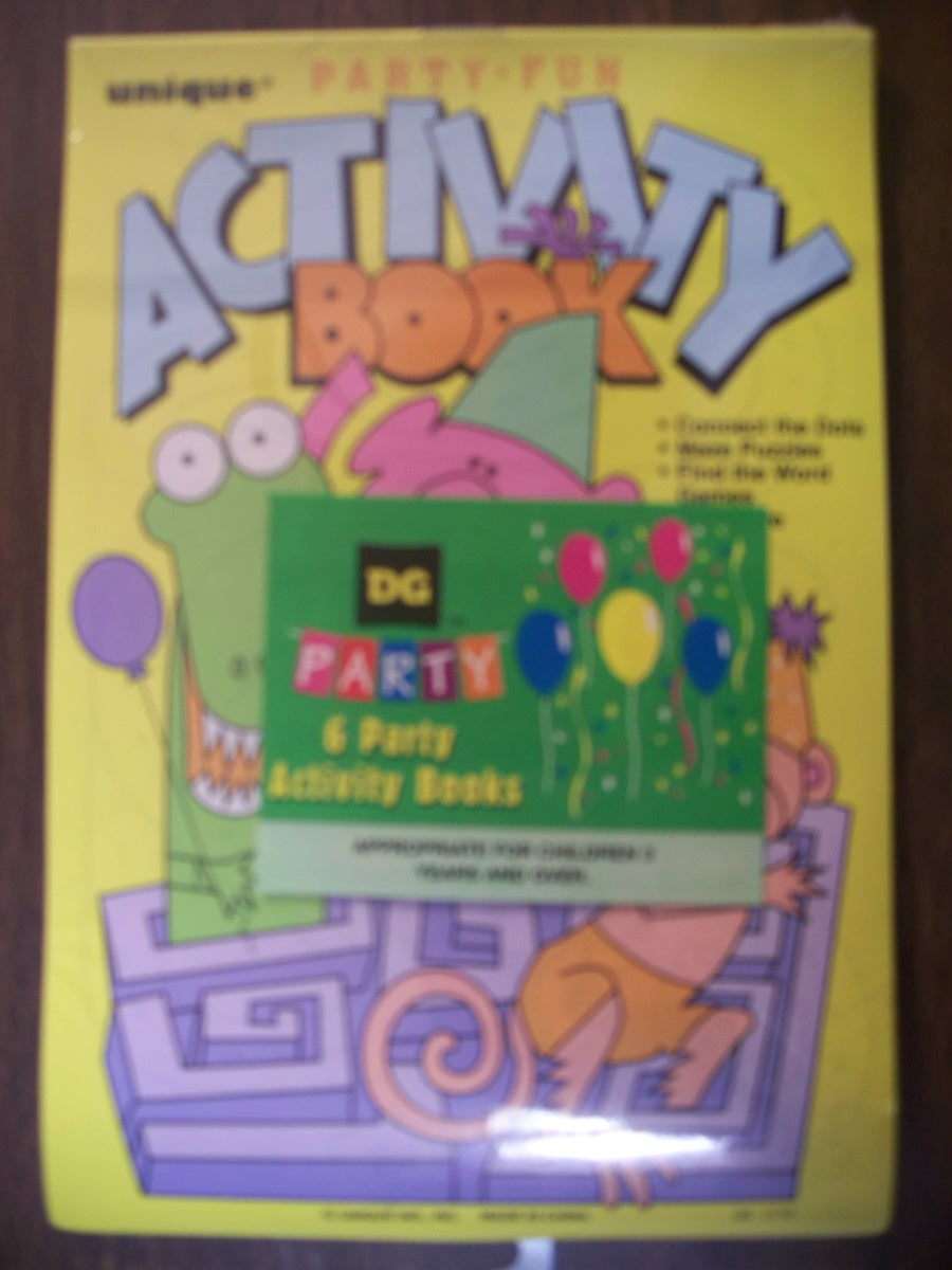 Party Activity Book (Set of 6)