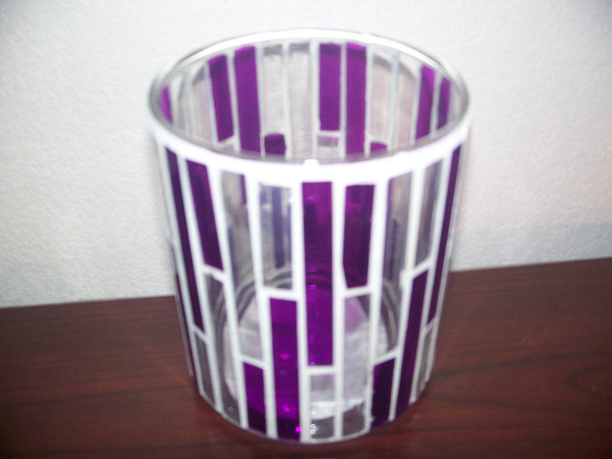 Purple and White Tealight Candle Holder