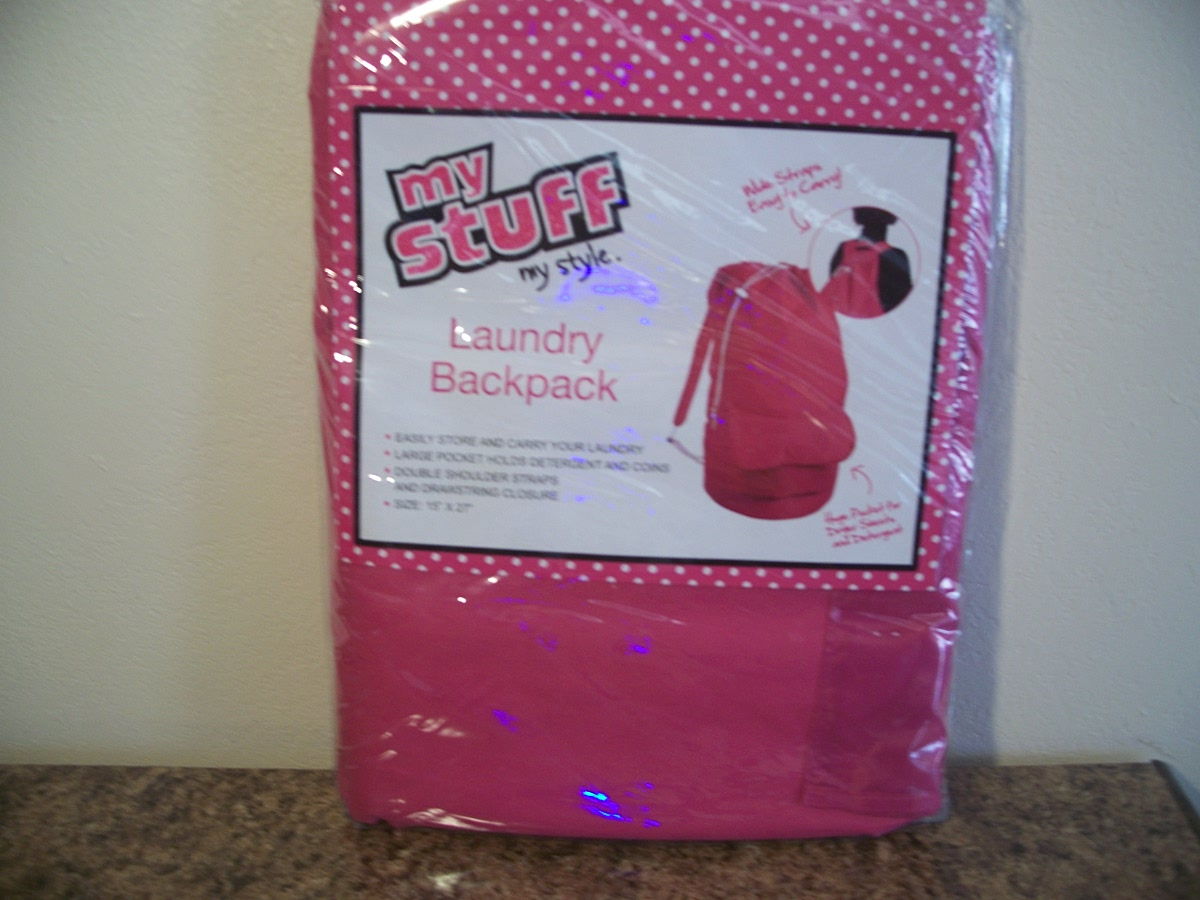 Laundry Backpack Pink