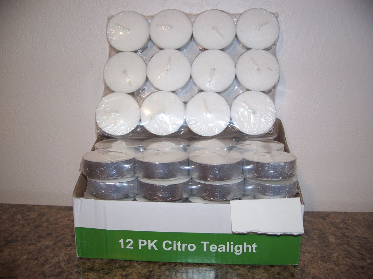12 PK Citro Tealight Candles