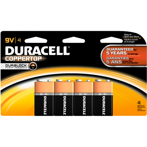 Duracell Coppertop 9V Batteries 4 Count
