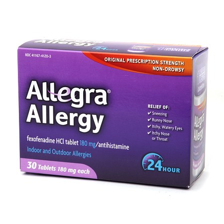 Allegra 24 Hour Allergy Relief, 30 Count Caplets