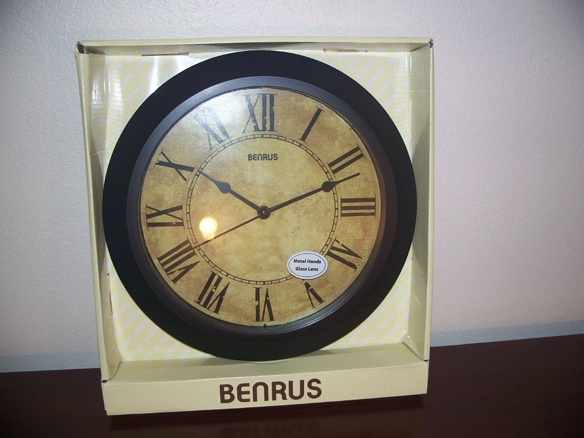 Benrus Wall Clock (Black Antique )