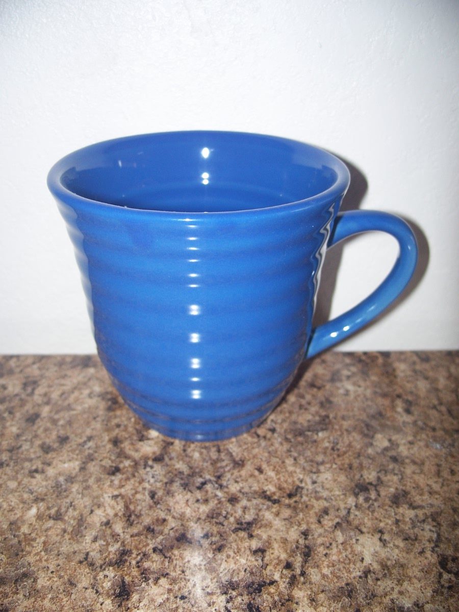 Ribbed Coffee Mug (Blue)