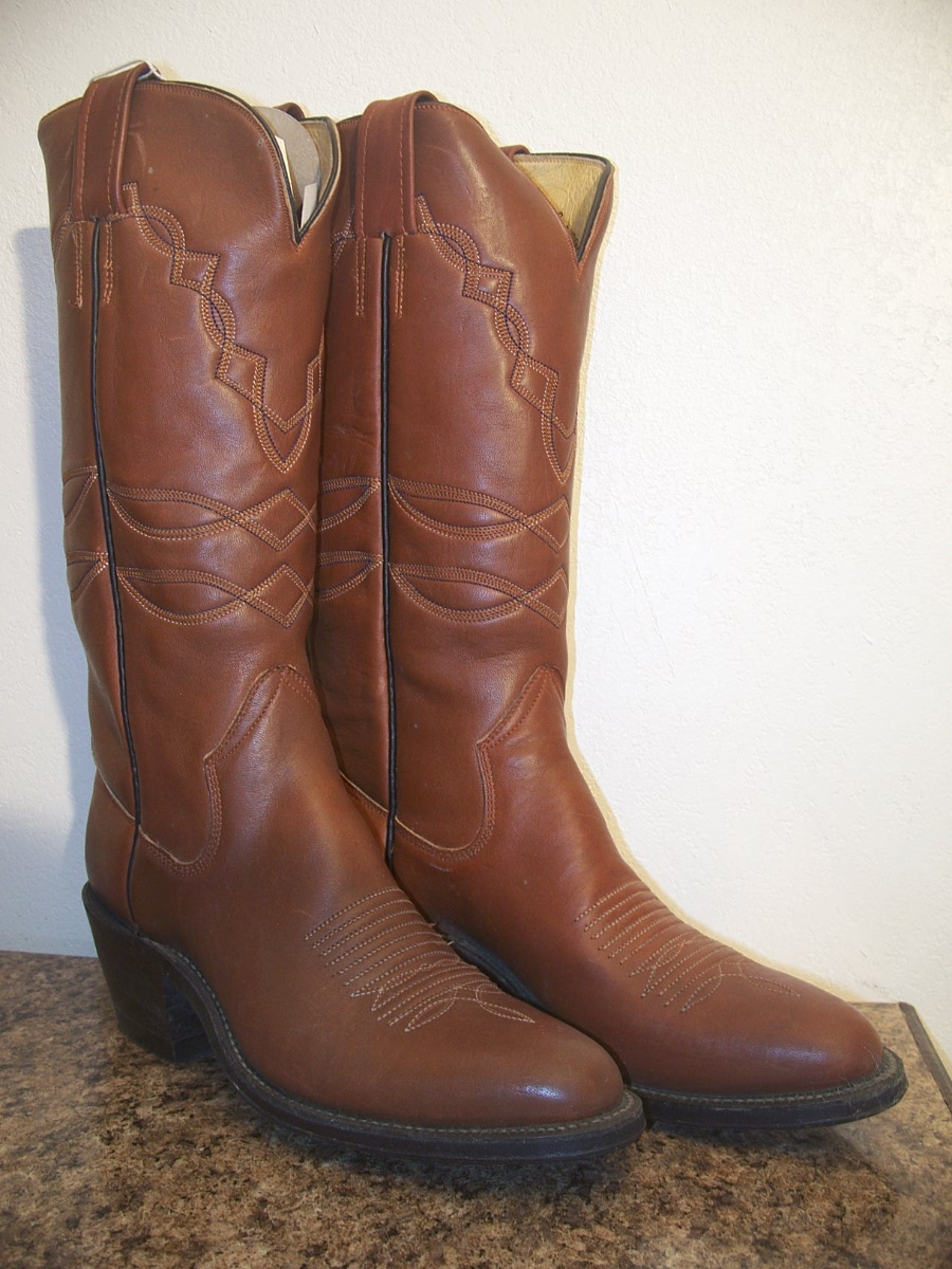 Sanders Boot Makers Cowboy Western Boots size 8A