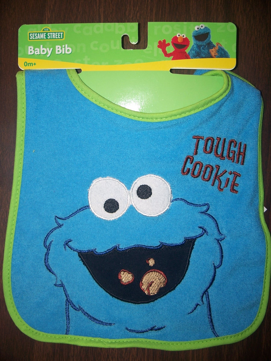 Sesame Street Baby Bib Cookie Monster