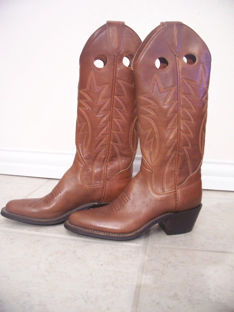 Vintage New Womans Sanders Handmade Cowboy Boots 6 A