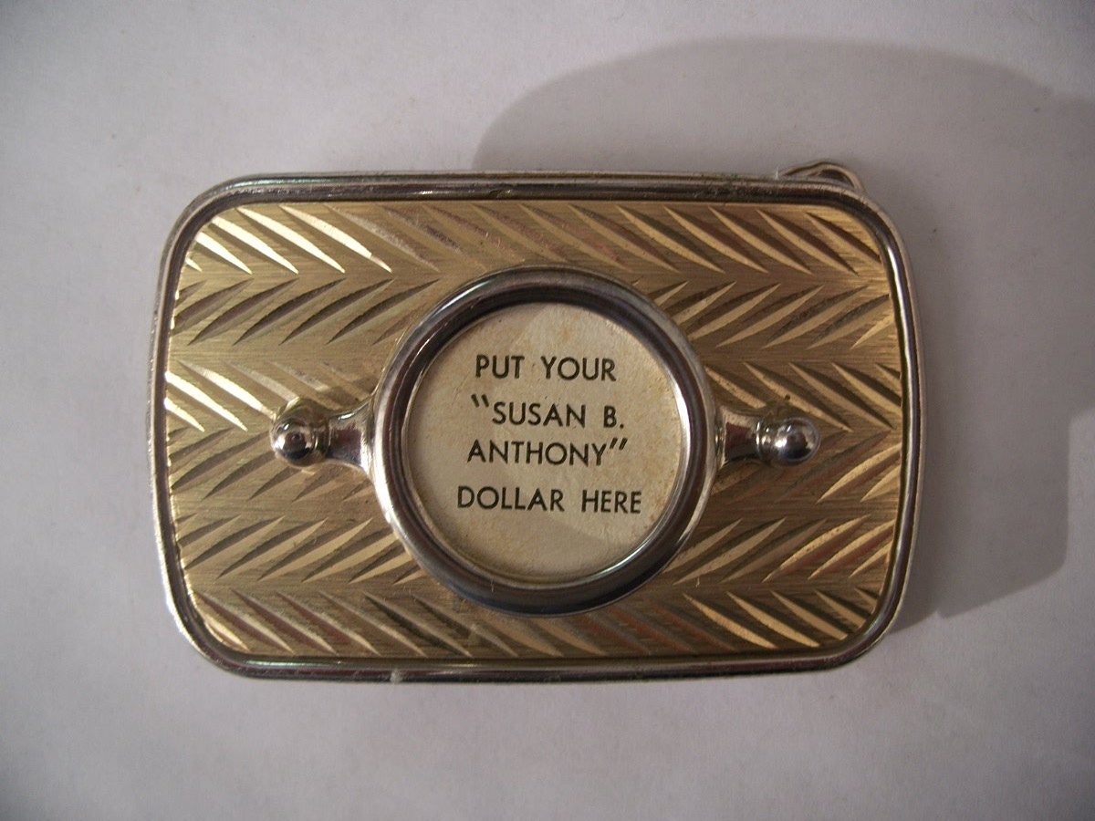 Two Tone Susan B. Anthony Belt Buckle