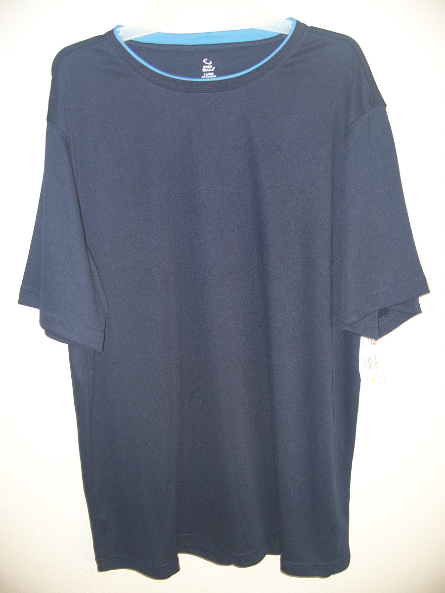 Open Trails Sz L Dark Blue/Light Blue Around the Collar