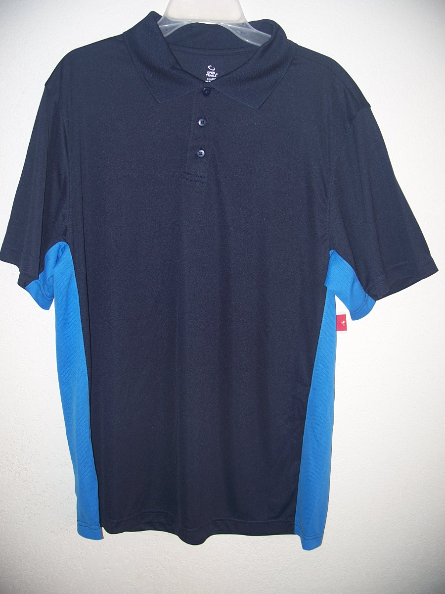 Open Trails Sz XL Dark Blue with Blue down the Sides Shirt