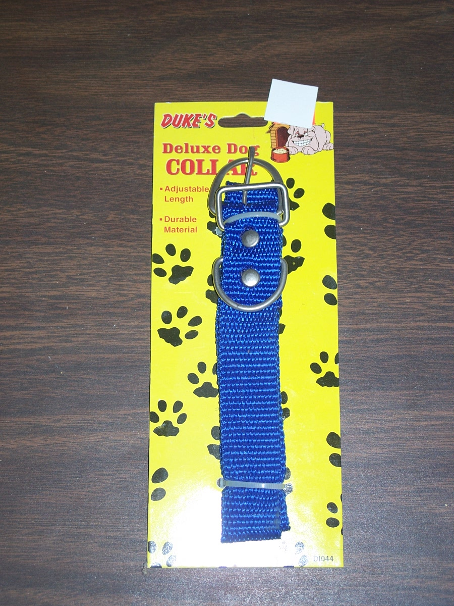 Duke's Deluxe Dog Collar Blue