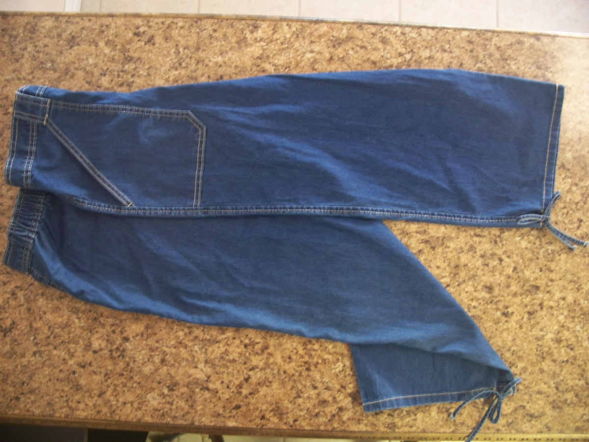 Bobbie Brooks Sz Lg 12-14 Dark Denim Capri
