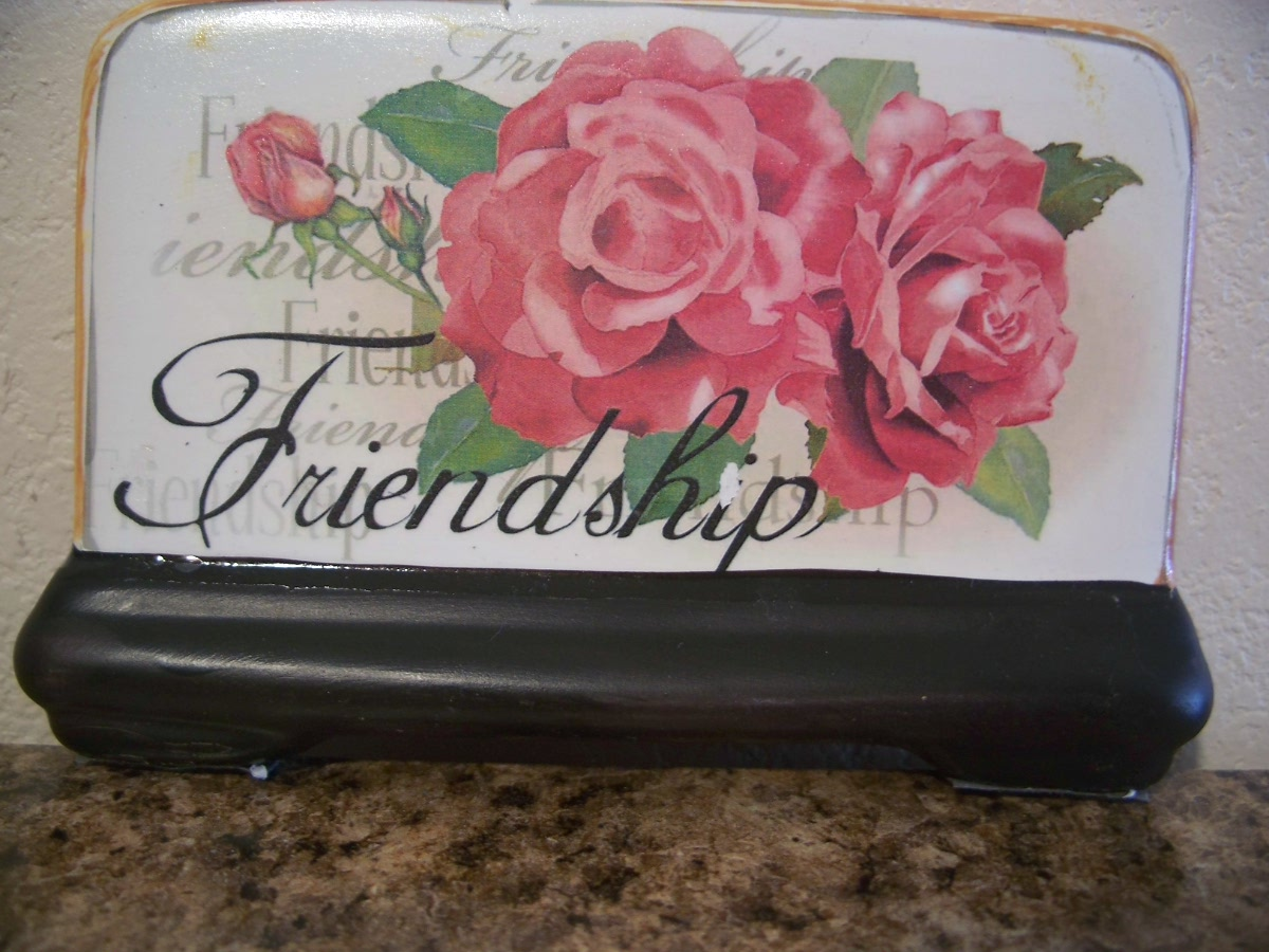 Friendship Pink Roses Plaque