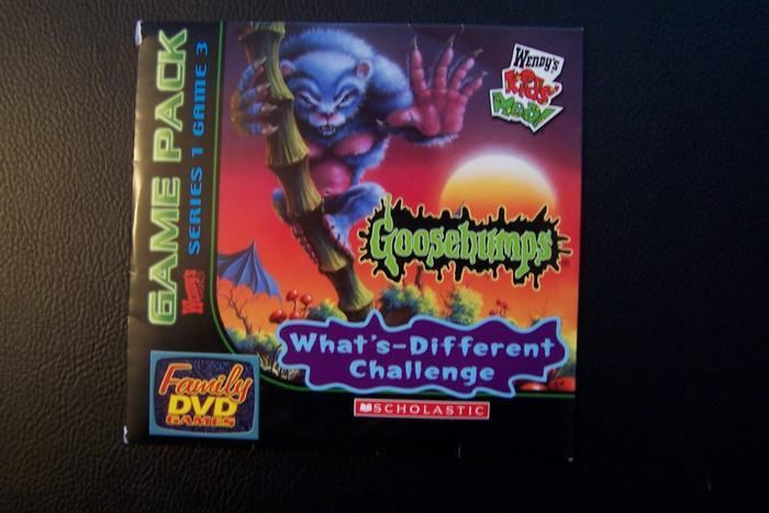 Wendy's Kids' Meal DVD Game Disc 3 Goosebumps