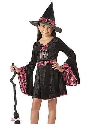 TOTALLY GHOUL GROOVY WITCH HAT FOR AGES 10-14 BLACK