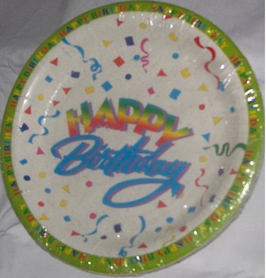 Happy Birthday Party Plate