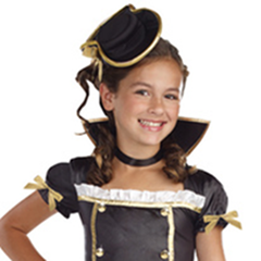 Totally Ghoul Pirate Princess Girl's Hat Halloween Costume Sz L