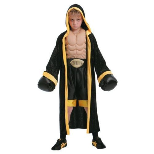 TOTALLY GHOUL PRIZEFIGHTER JUMPSUIT GLOVES BELT BOY SZ S