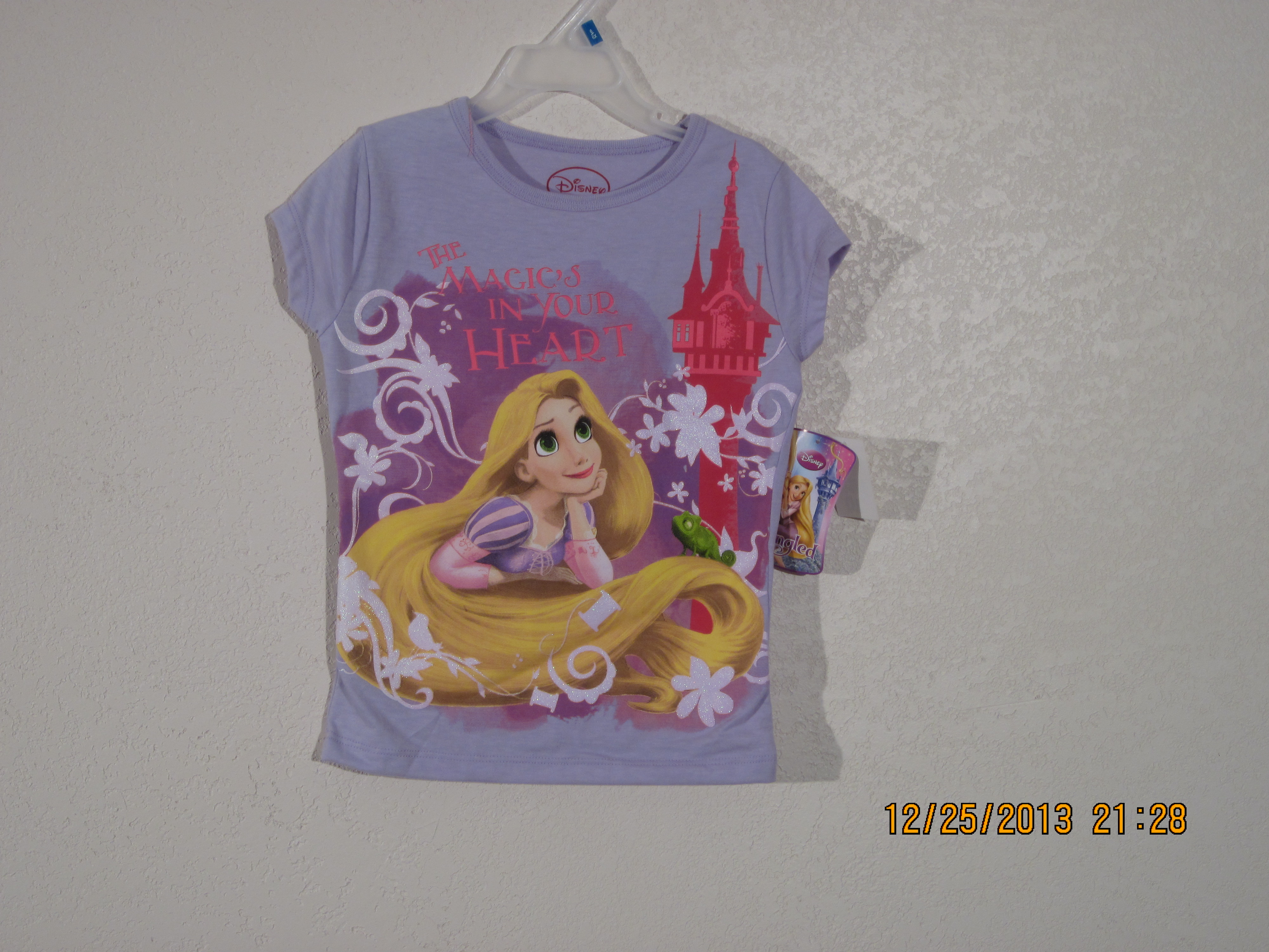 Disney Tangled Sz S 6-6X T-Shirt (purple)