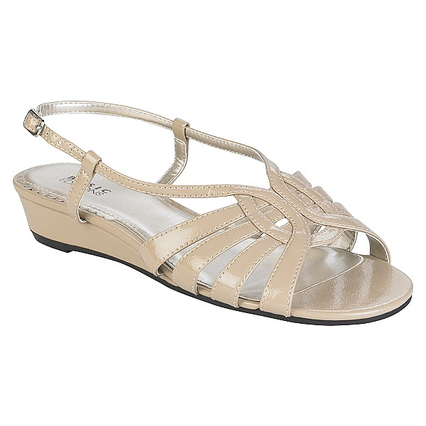 Basic Editions Women's Maria Slingback Sandal Wide 9 1/2 - Taupe