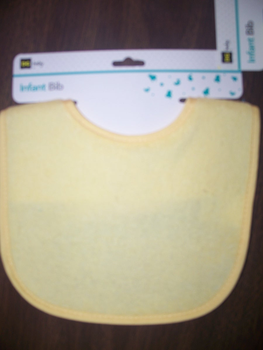 Infant Baby Bib Yellow color