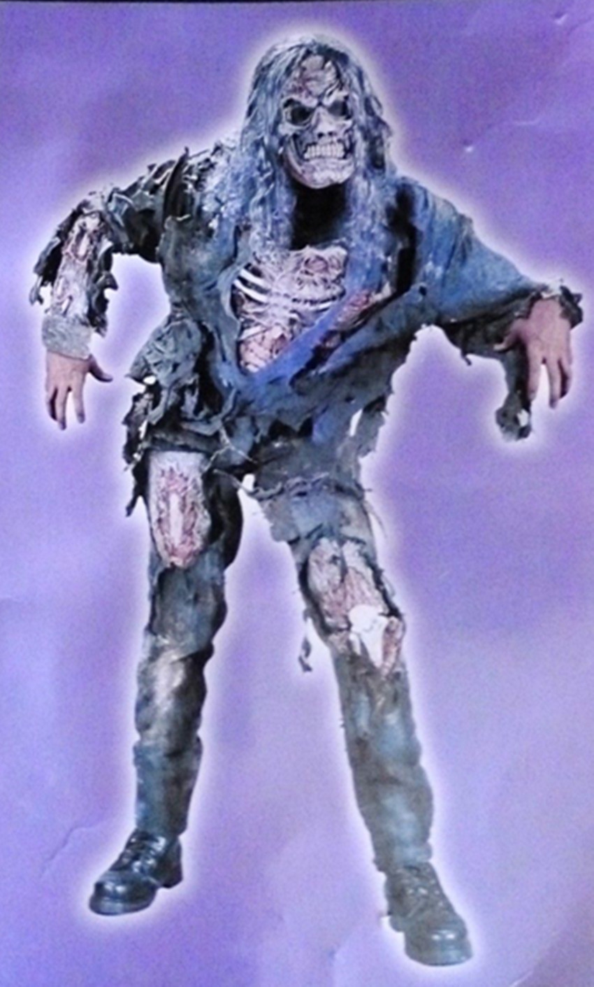 Totally Ghoul Zombie Mask Pants Halloween Costume Men's One Size