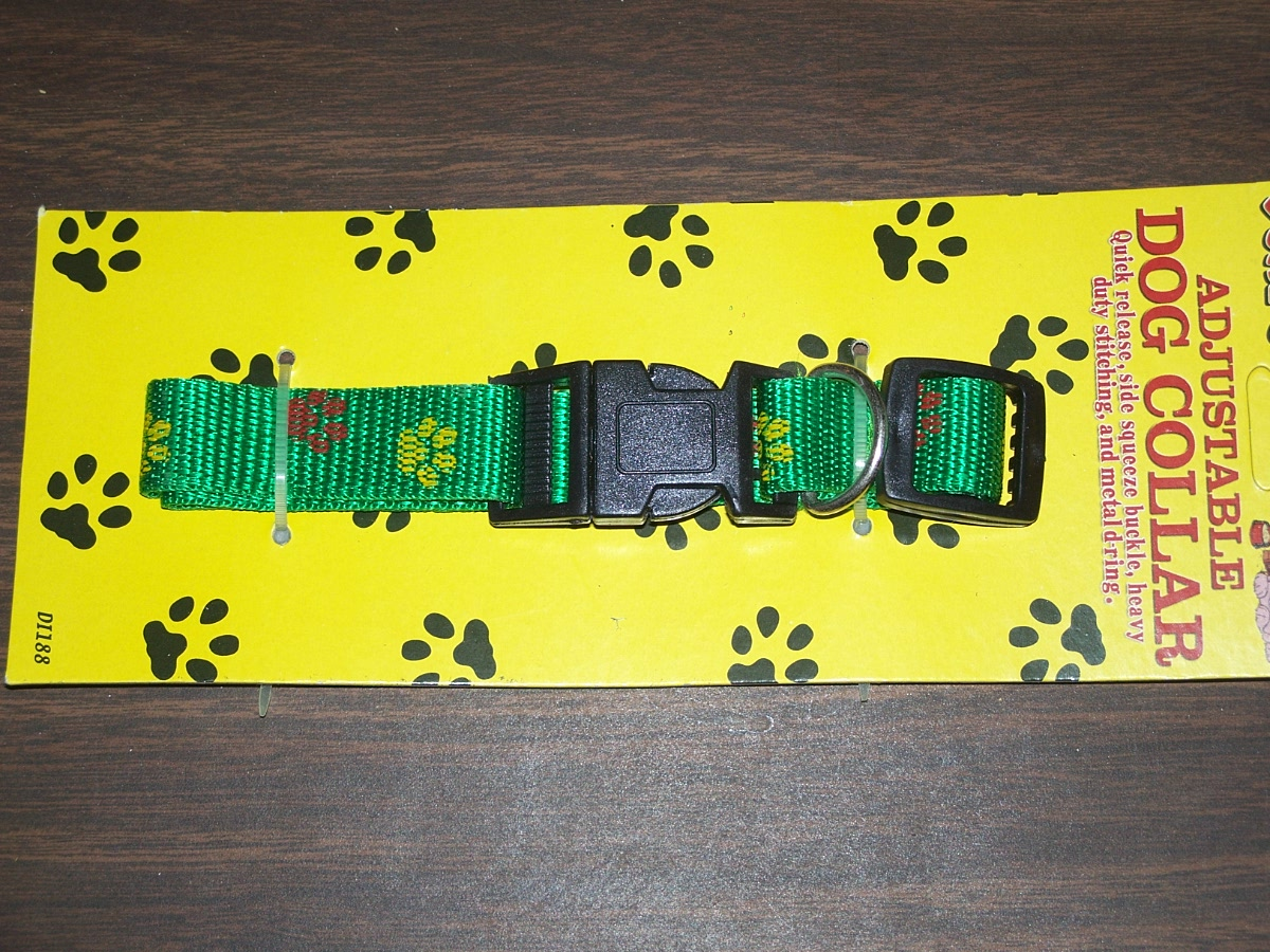 Duke's Adjustable Dog Collar Green