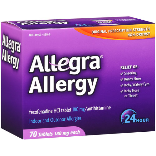 Allegra Non-Drowsy Indoor & Outdoor Allergy Tablets, 180mg, 70ct