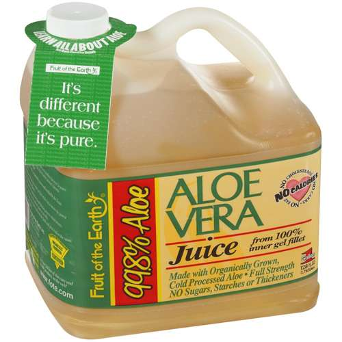 Fruit Of The Earth Aloe Vera Juice With 99.8% Aloe, 1 gal