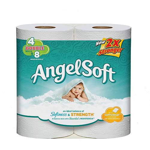 Angel Soft Double Rolls Bath Tissue, 4 count