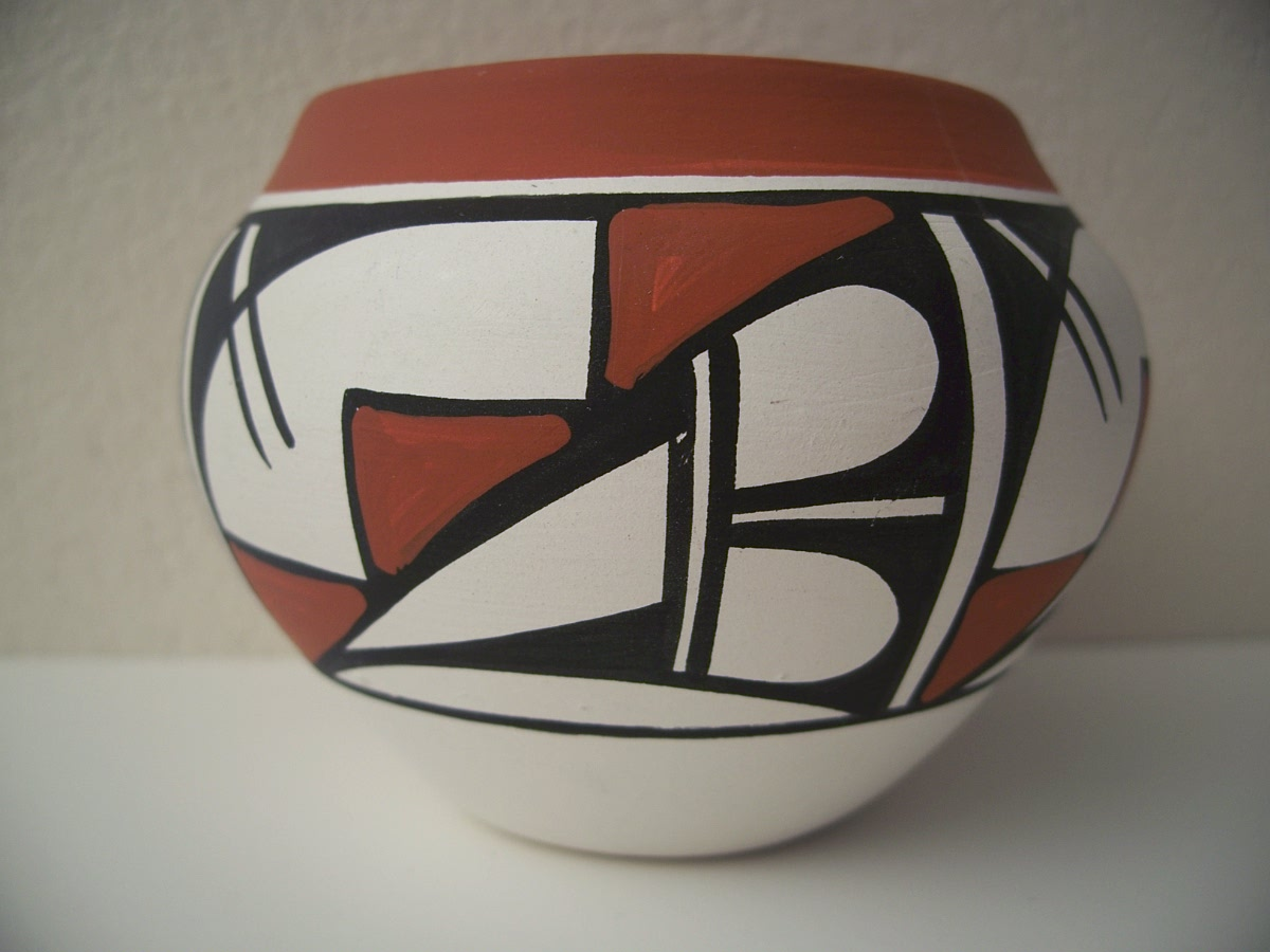"Hand Turned Art Pottery 3 1/4"" X 4 1/4"" - Made in New Mexico"