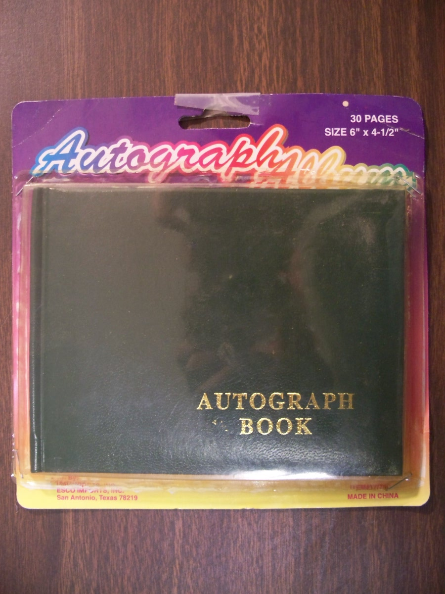 Blank Autograph Book