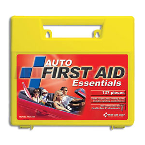 Auto 137 Piece First Aid Kit, w/Large Plastic Case