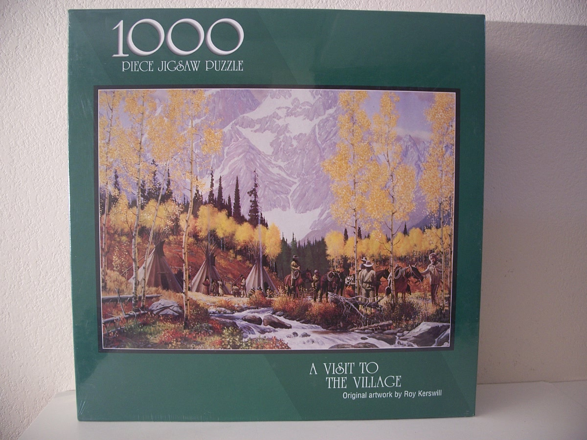 A Visit To The Village jigsaw puzzle, indian, mountain man,
