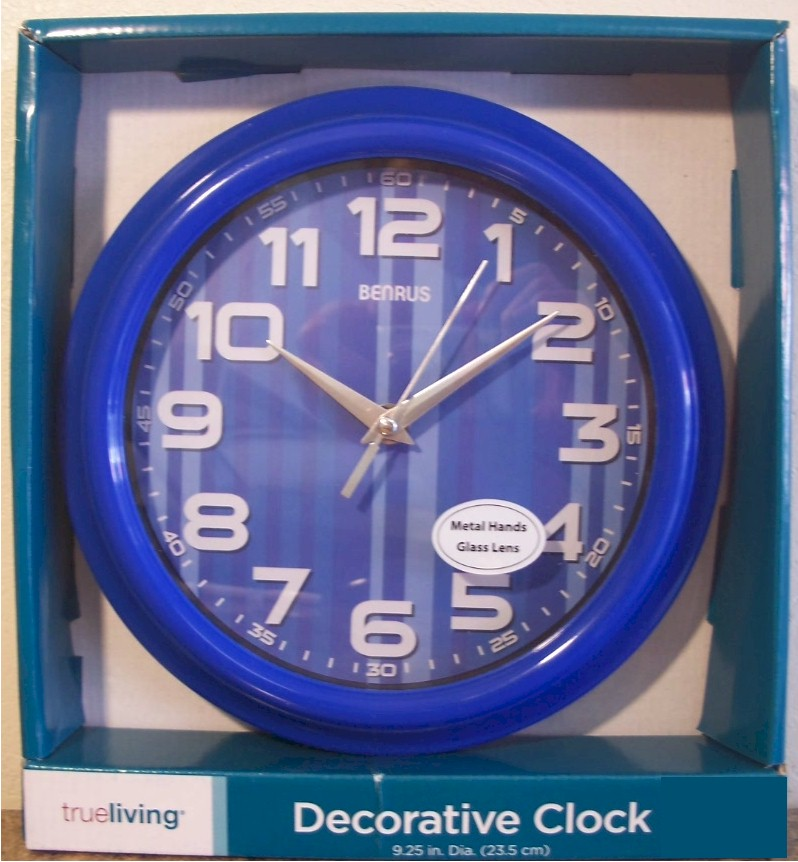 "Blue 9.25"" BENRUS Wall Clock"