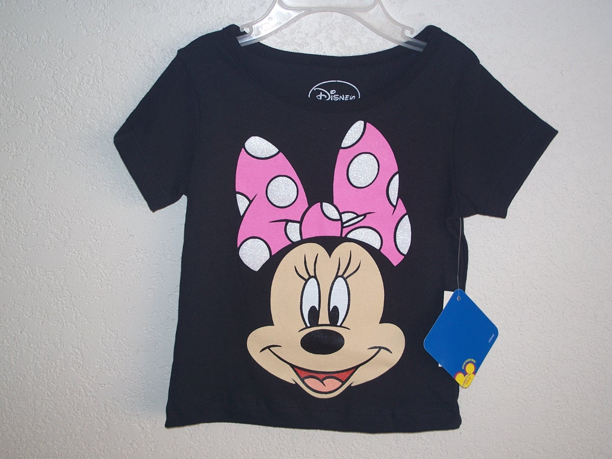 Disney Minnie Mouse Sz 3T Black T-Shirt
