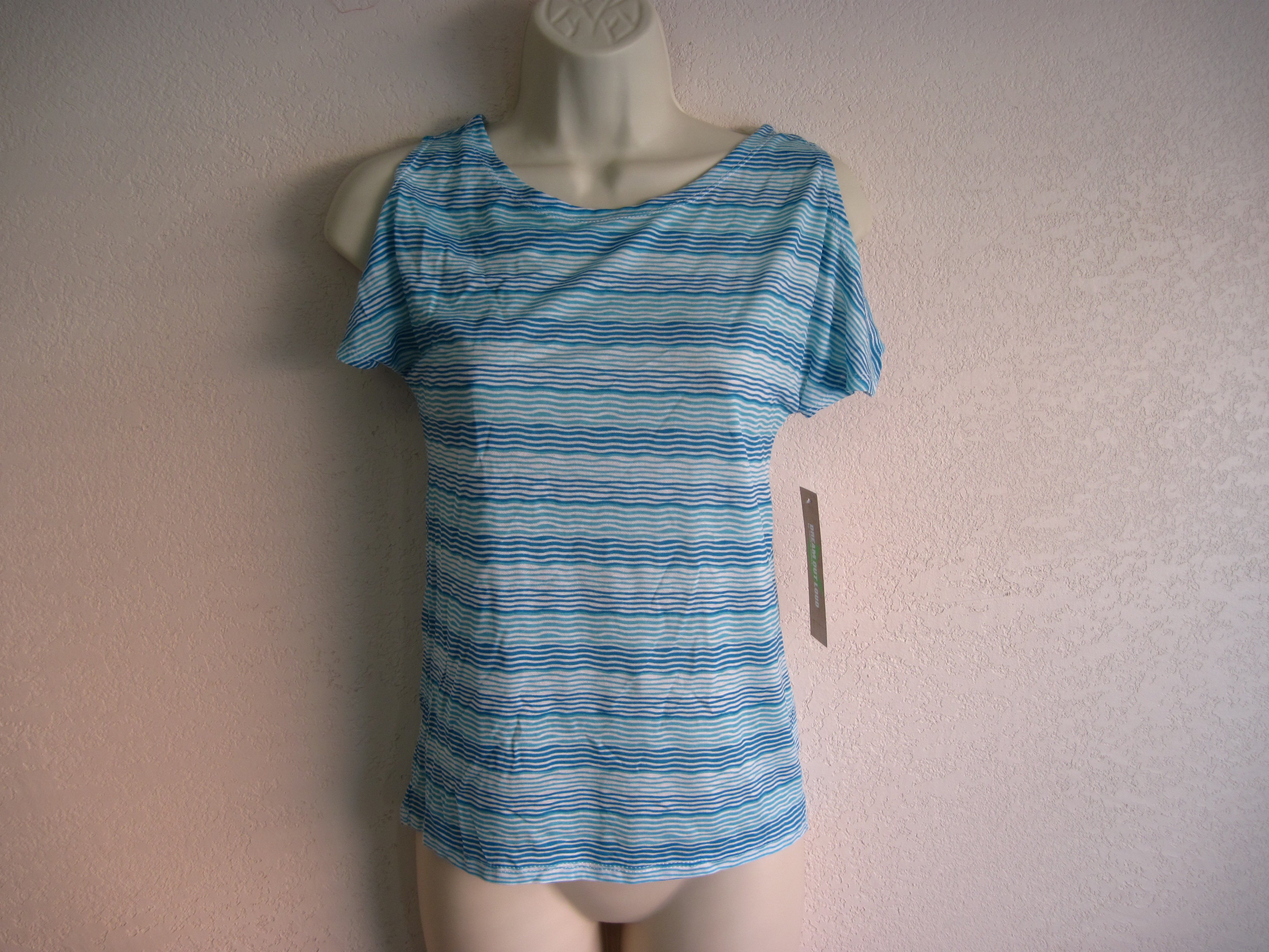 Dream Out Loud Sz XS Juniors Shirt Blue Stripes