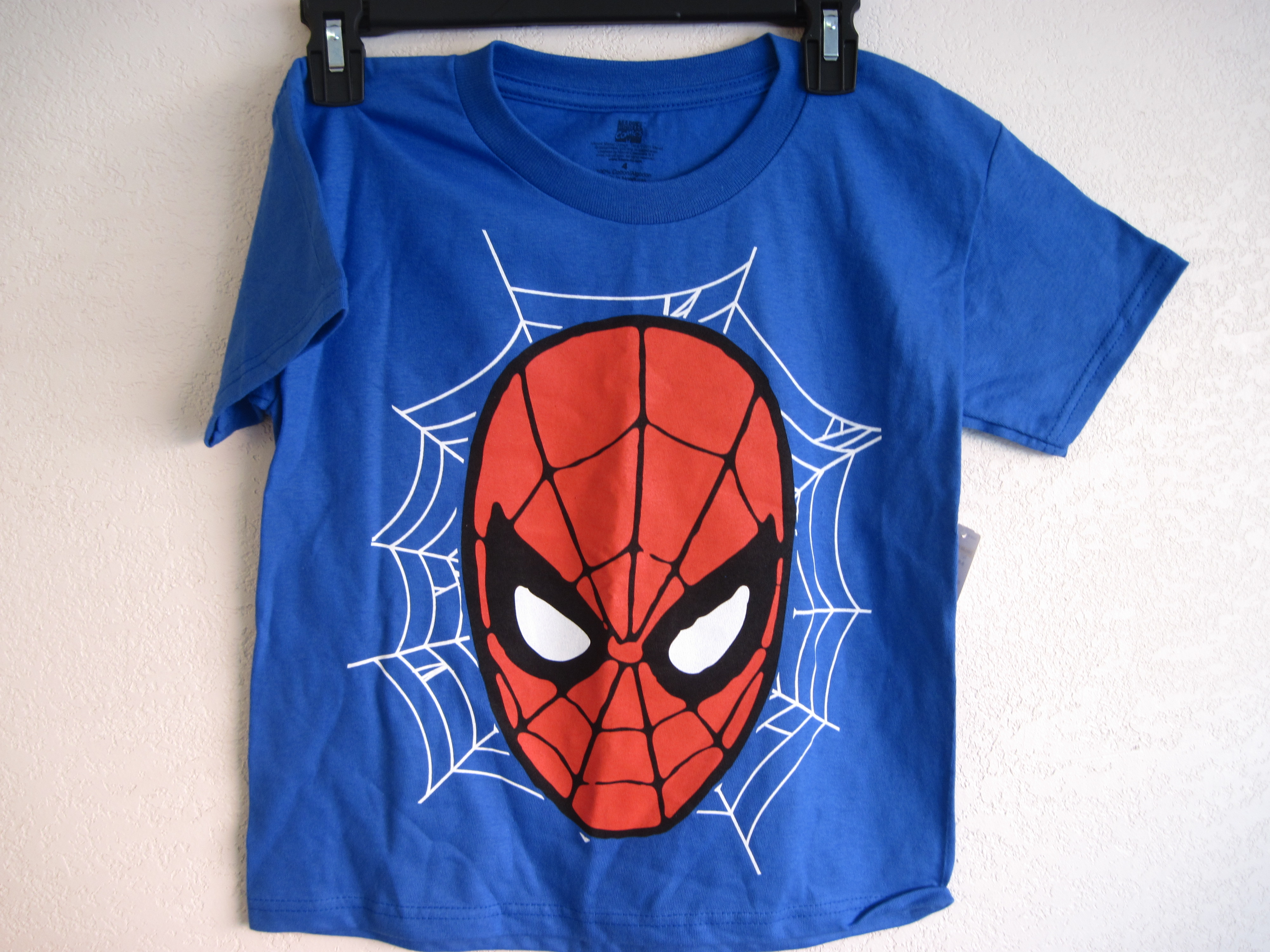Marvel Comics Sz 4 Spiderman T-Shirt (blue)