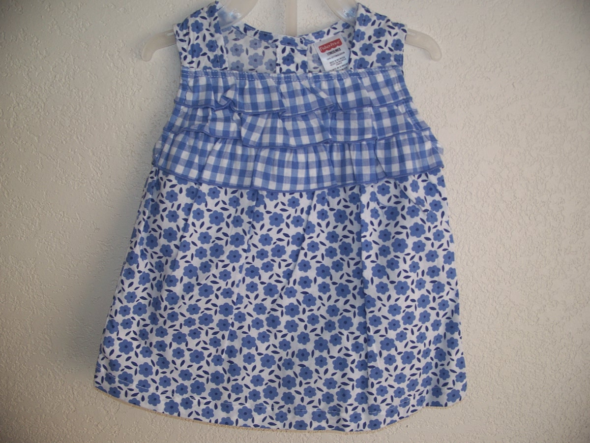 Fisher Price 12M Blue Dress Top & Bloomer Shorts