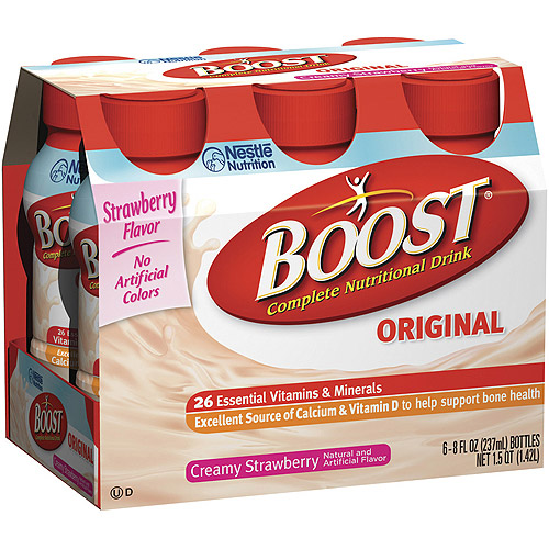 Boost Regular Strawberry Nutritional Energy Drink, 6pk