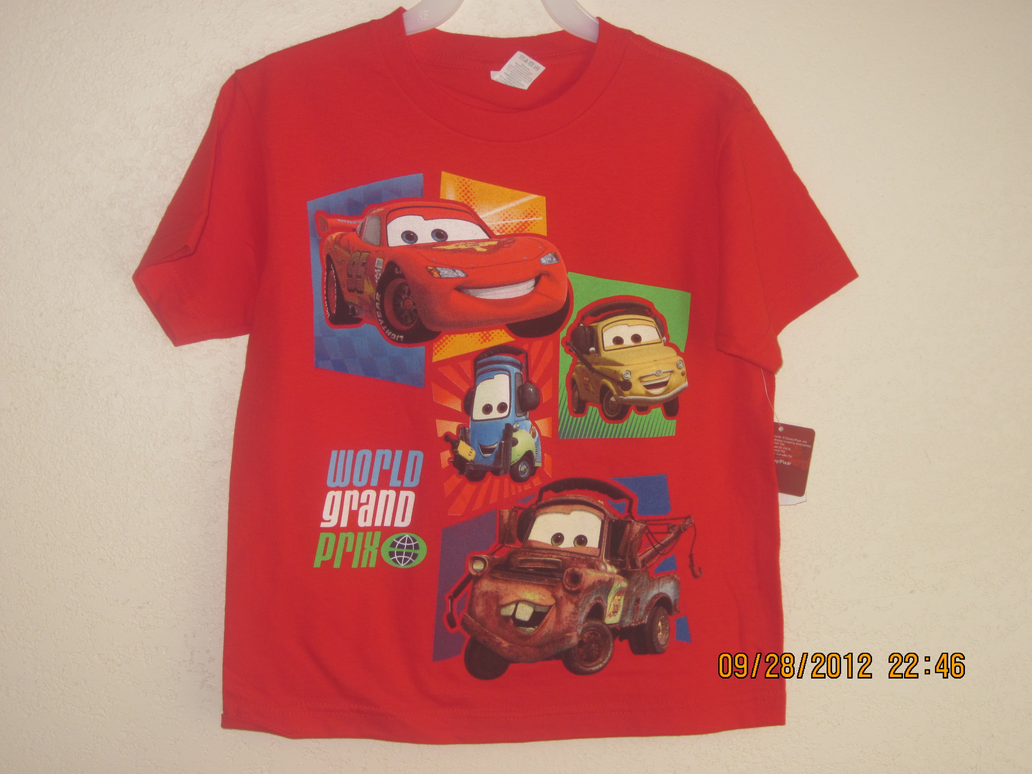 CARS T-Shirt Sz 7 Red