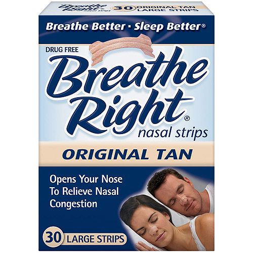 Breathe Right Large Tan Nasal Strips 30 ct