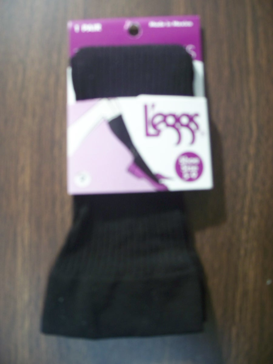 Leggs Shoe Sz 9-12 Trouser Socks (plain, brown)